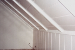 Deckenverkleidung Dachzimmer Esche weiß
