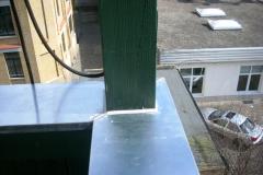 Balkonsanierung, Blechabdeckung