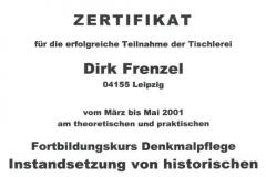 "Lehrgang ""Instandsetzung historischer Türen und Fenster"""